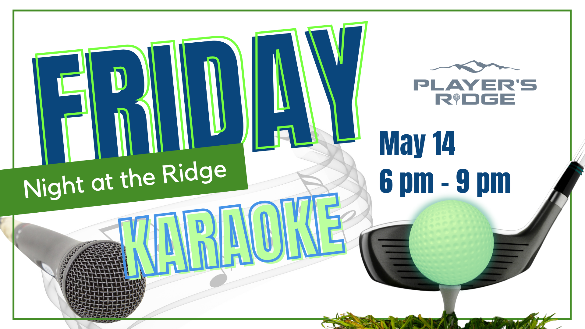 Friday Night at the Ridge on May 14th!