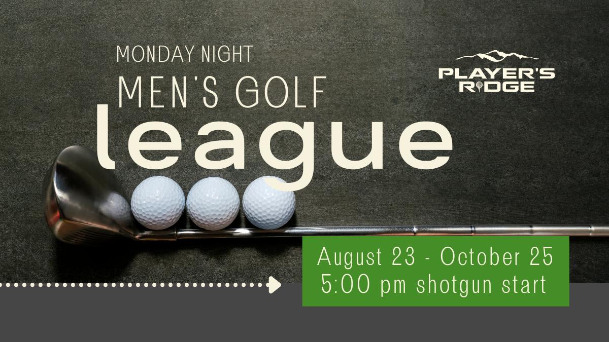 New Men's Golf League COMING SOON!