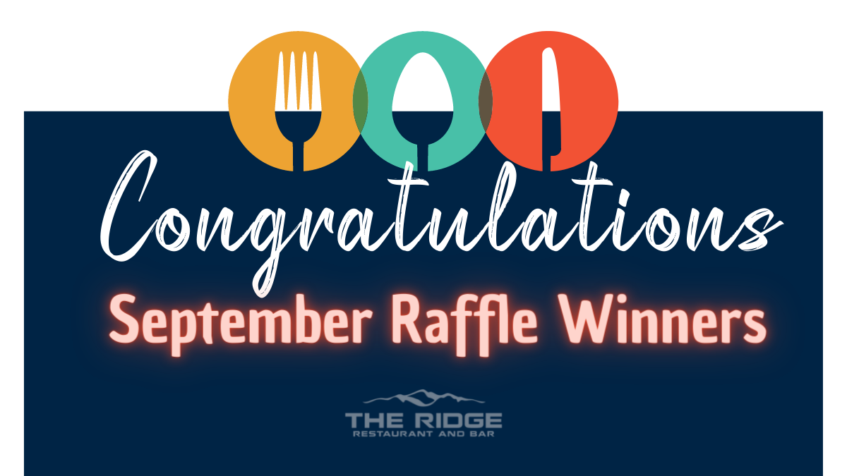 Restaurant Raffle Winners